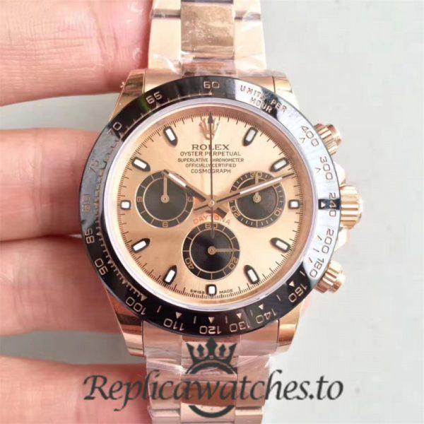 Swiss Rolex Daytona Replica 116515LN 013 18K Rose Gold Automatic 40 mm