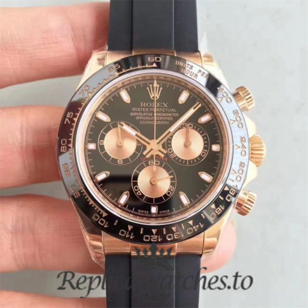 Swiss Rolex Daytona Replica 116515LN Black Rubber Automatic 40MM