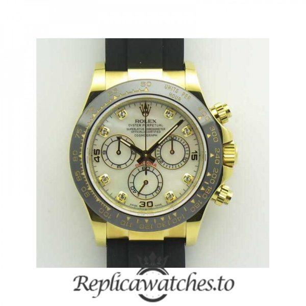 Swiss Rolex Daytona Replica 116518LN 006 Black Rubber Automatic 40 mm