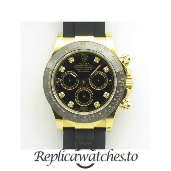 Swiss Rolex Daytona Replica 116518LN 007 Black Rubber Automatic 40 mm