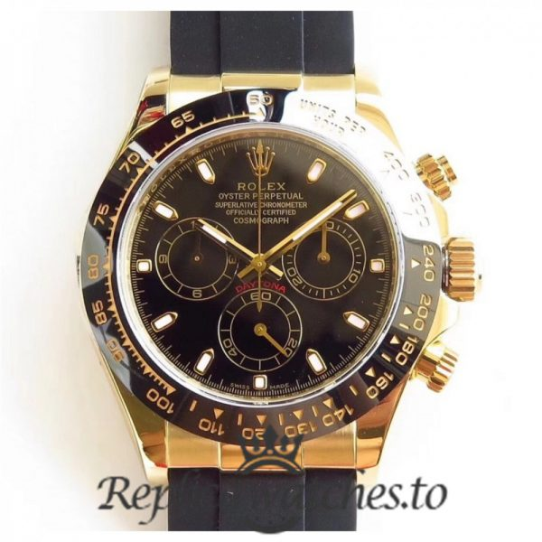 Swiss Rolex Daytona Replica 116518LN 008 Black Rubber Automatic 40 mm