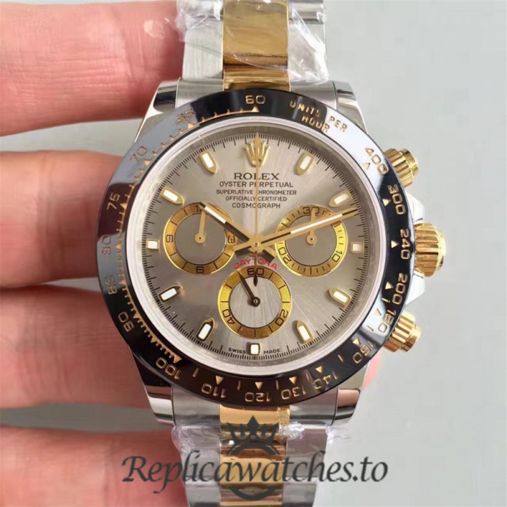 Swiss Rolex Daytona Replica 116519LN 004 18K Yellow Gold and Stainless Steel 410L Automatic 40 mm