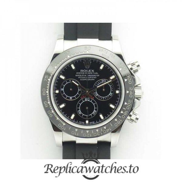 Swiss Rolex Daytona Replica 116519LN 008 Black Rubber Automatic 40 mm