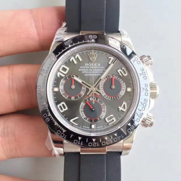 Swiss Rolex Daytona Replica 116519LN 009 Black Rubber Automatic 40 mm
