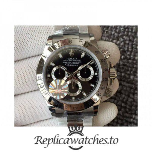 Swiss Rolex Daytona Replica 116520 001 Stainless Steel 410L Automatic 40 mm