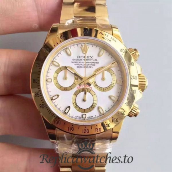 Swiss Rolex Daytona Replica 116528 002 18K Yellow Gold Automatic 40 mm