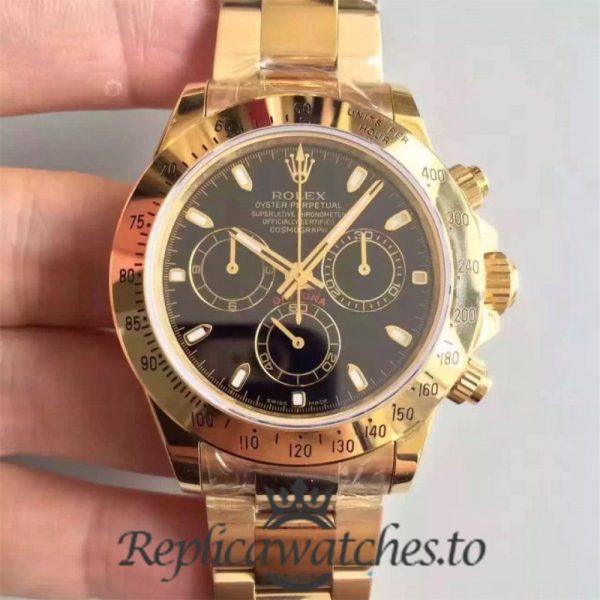 Swiss Rolex Daytona Replica 116528 18K Yellow Gold Automatic 40 mm
