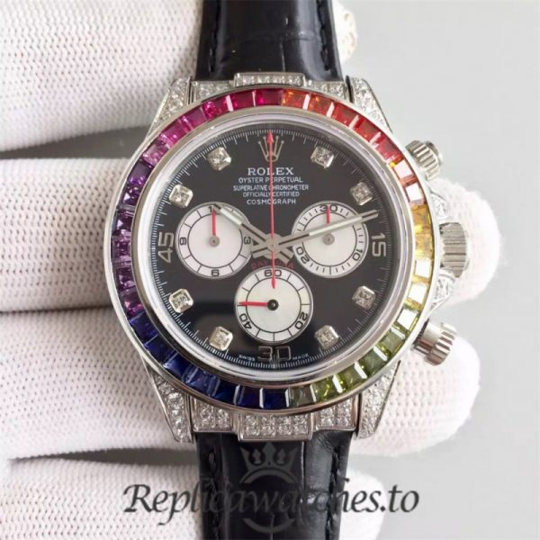 Swiss Rolex Daytona Replica 116599 001 Black Rubber Automatic 40 mm