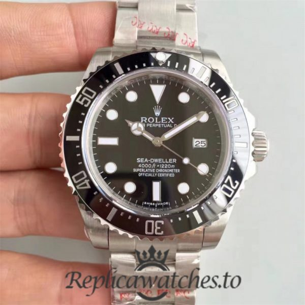 Swiss Rolex Deepsea Sea-Dweller Replica 116660 008 Stainless Steel 904L Automatic 40mm
