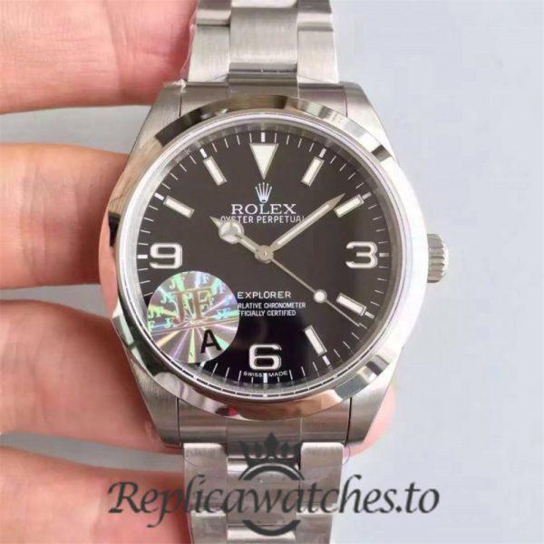 Swiss Rolex Explorer Replica 214270 001 Stainless Steel 410L Automatic 39mm