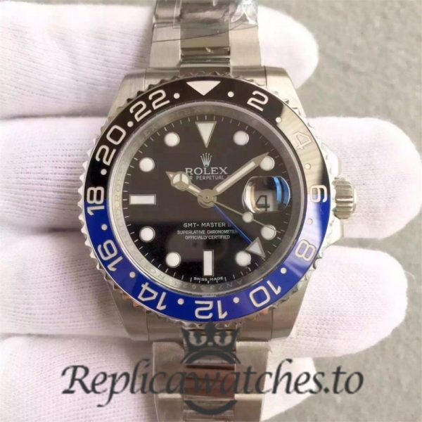 Swiss Rolex GMT-Master Replica 116710BLNR 002 Stainless Steel 410L Automatic 40mm