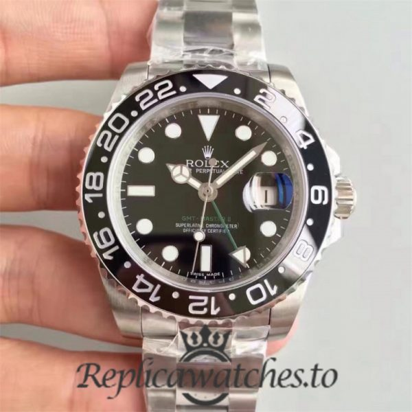 Swiss Rolex GMT-Master Replica 116710LN Stainless Steel 410L Automatic 40mm