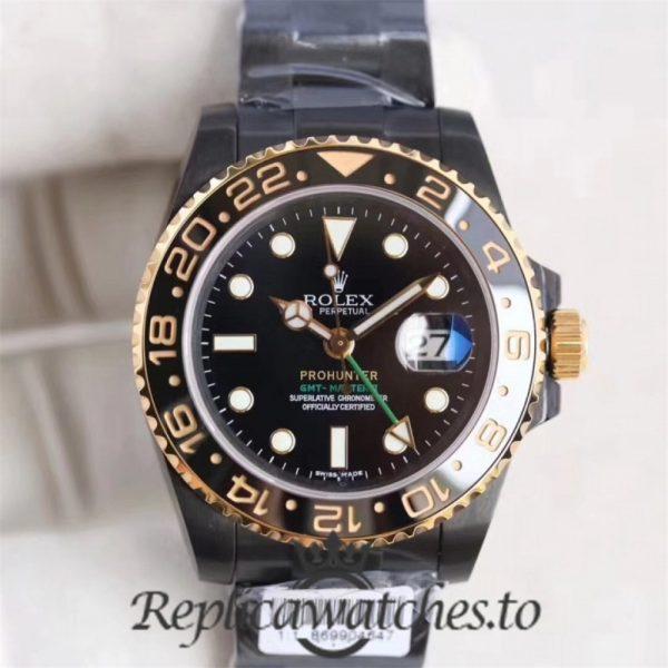 Swiss Rolex GMT-Master Replica 116713LN 001 PVD Automatic 40mm