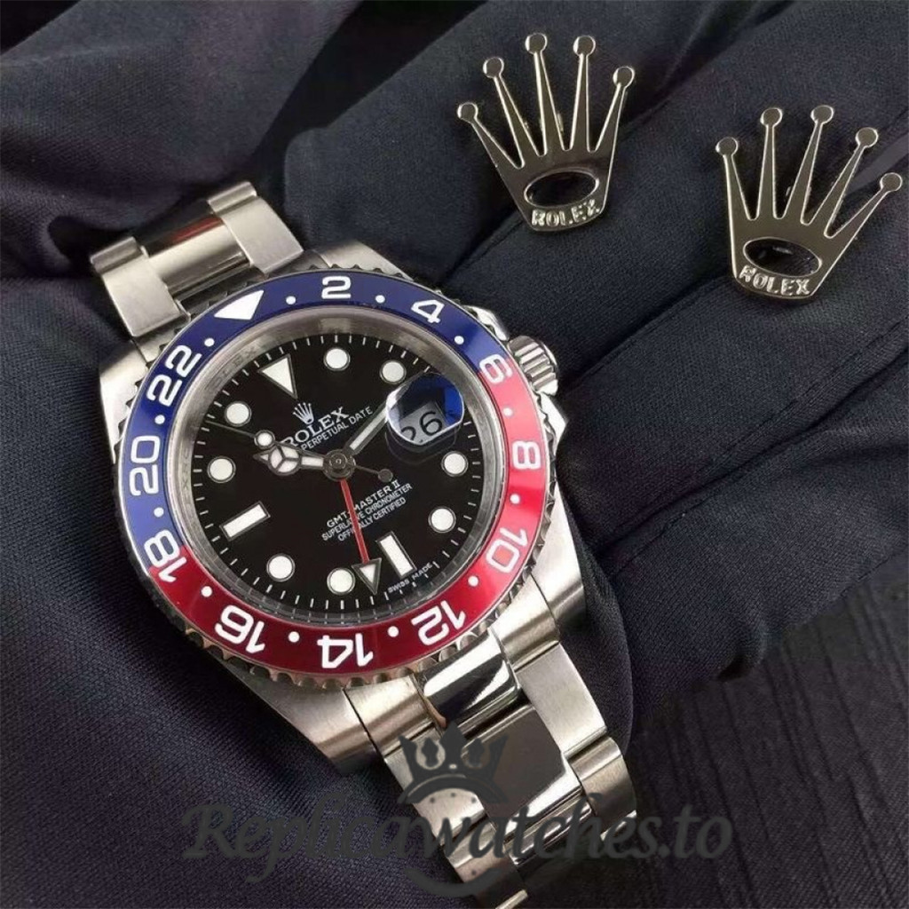 Swiss Rolex GMT-Master Replica 116719BLRO 001 Stainless Steel 410L Automatic 40mm
