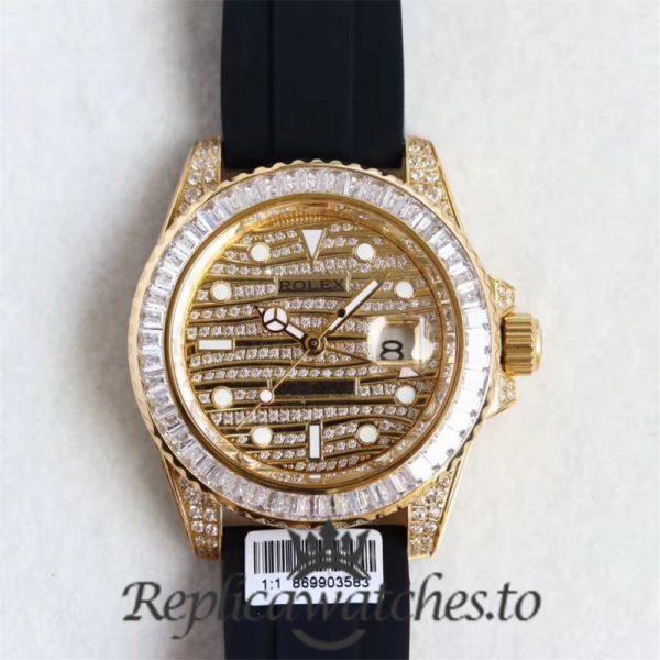Swiss Rolex GMT-Master Replica 116769 002 Black Rubber Automatic 40mm