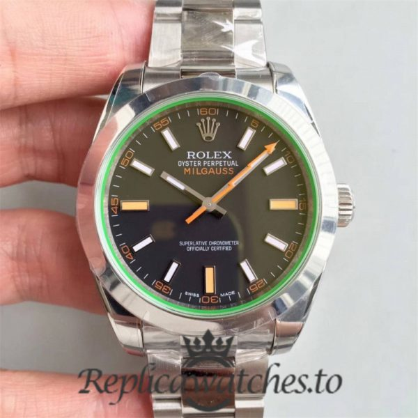 Swiss Rolex Milgauss Replica 116400GV 006 Stainless Steel 410L Automatic 40mm