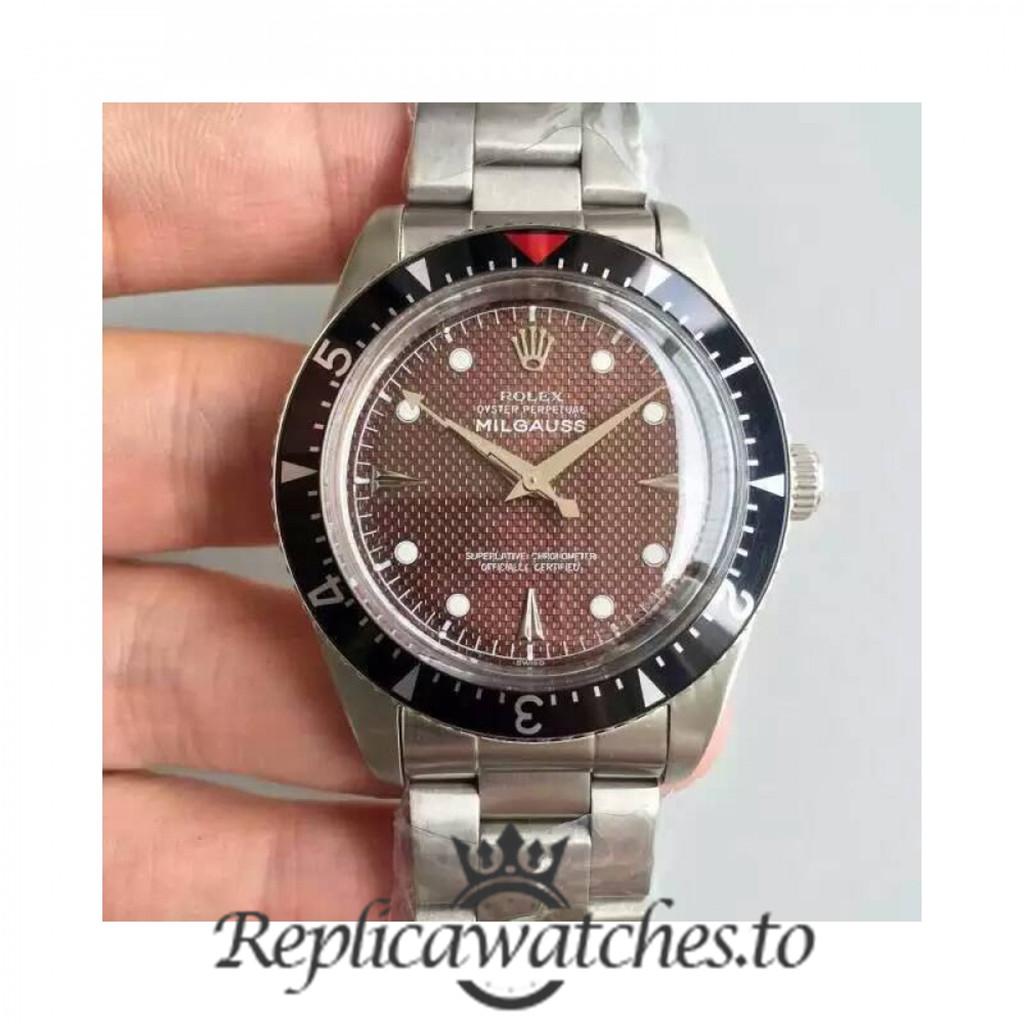 Swiss Rolex Milgauss Replica 6541 001 Stainless Steel 410L Automatic 38mm