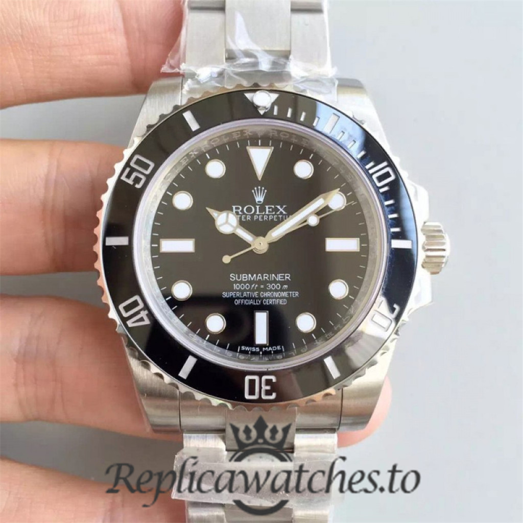 Swiss Rolex Submariner Replica 114060 003 Stainless Steel 410L Automatic 40mm