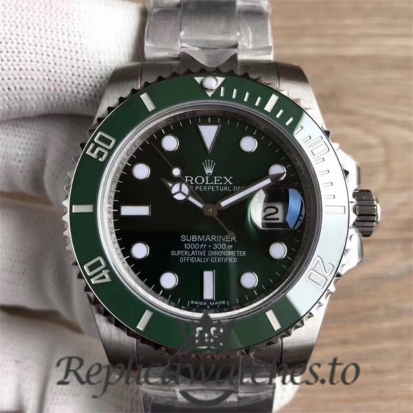 Swiss Rolex Submariner Replica 116610LV 007 Stainless Steel 410L Automatic 40mm