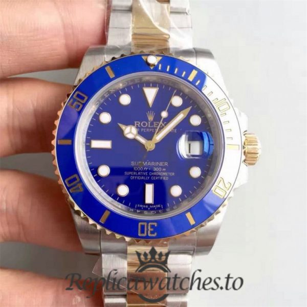 Swiss Rolex Submariner Replica 116613LB 002 24K Yellow Gold Wrapped and Stainless Steel 410L Automatic 40mm