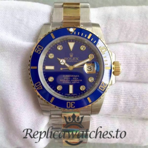 Swiss Rolex Submariner Replica 116613LB 003 24K Yellow Gold Wrapped and Stainless Steel 410L Automatic 40mm