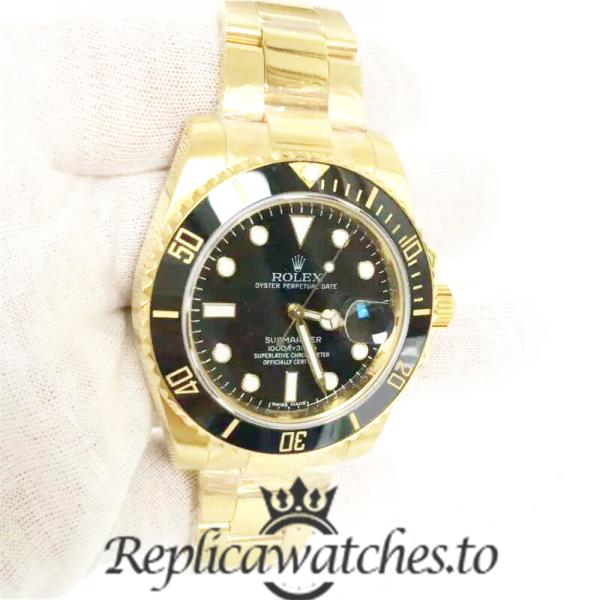 Swiss Rolex Submariner Replica 116618LN 003 18K Yellow Gold Automatic 40mm