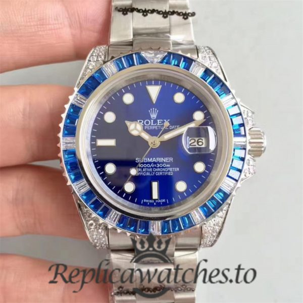 Swiss Rolex Submariner Replica 116619LB 001 Stainless Steel 410L Automatic 40mm