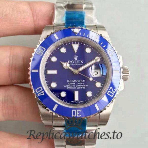 Swiss Rolex Submariner Replica 116619LB Stainless Steel 410L Automatic 40mm
