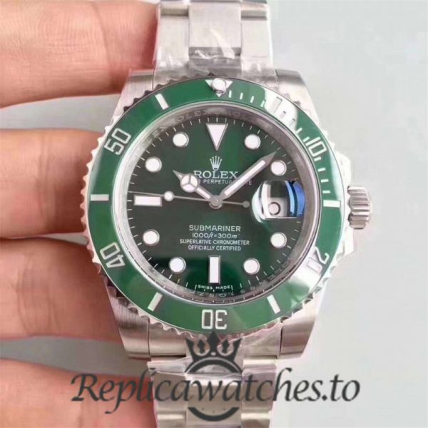 Swiss Rolex Submariner V9S Replica 116610LV Stainless Steel 904L Automatic 40mm