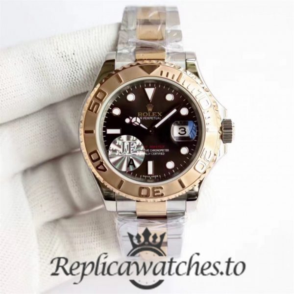Swiss Rolex Yacht-Master Replica 116621 001 Stainless Steel 410L and 18K Rose Gold Automatic 40mm