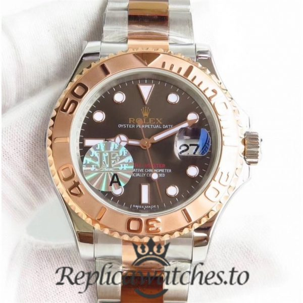 Swiss Rolex Yacht-Master Replica 116621 002 Stainless Steel 410L and 18K Rose Gold Automatic 40mm