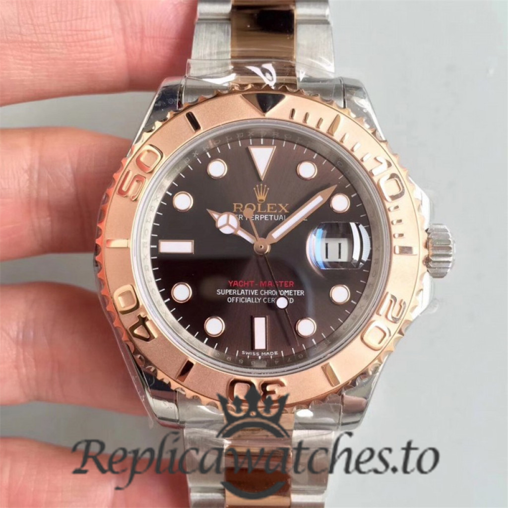 Swiss Rolex Yacht-Master Replica 116621 Stainless Steel 410L and 18K Rose Gold Automatic 40mm