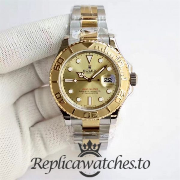 Swiss Rolex Yacht-Master Replica 116622 019 Stainless Steel 410L and 18K Yellow Gold Automatic 40mm