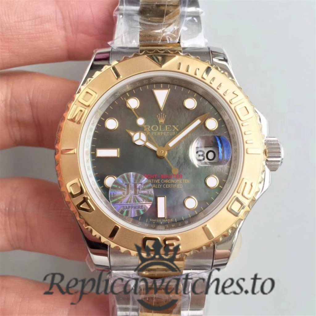 Swiss Rolex Yacht-Master Replica 116622 021 Stainless Steel 410L and 18K Yellow Gold Automatic 40mm
