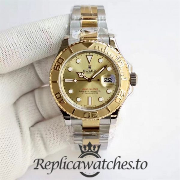 Swiss Rolex Yacht-Master Replica 116622 026 Stainless Steel 410L and 18K Yellow Gold Automatic 40mm