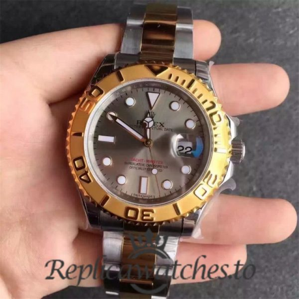 Swiss Rolex Yacht-Master Replica 116623 Stainless Steel 410L and 18K Yellow Gold Automatic 40mm