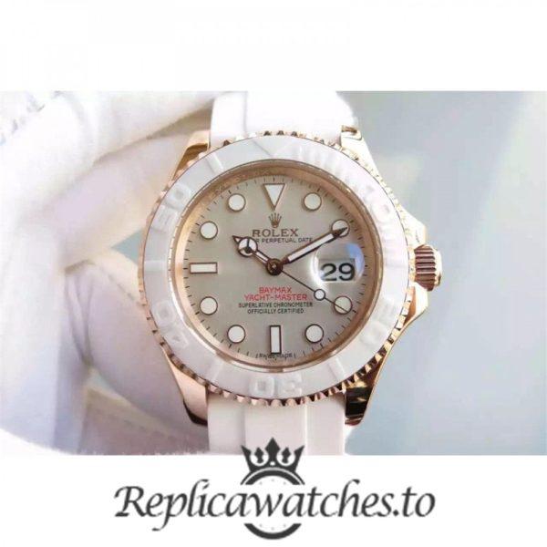 Swiss Rolex Yacht-Master Replica 116655 005 White Rubber Automatic 40mm
