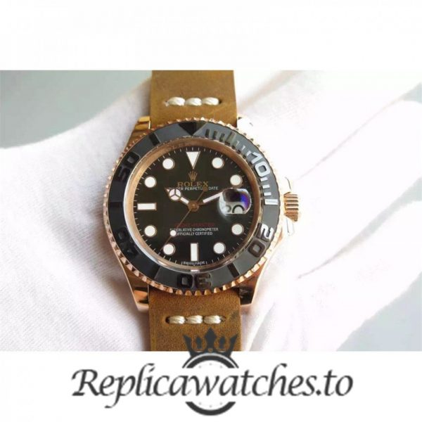 Swiss Rolex Yacht-Master Replica 116655 007 Brown Leather Automatic 40mm