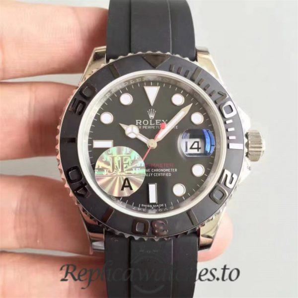 Swiss Rolex Yacht-Master Replica 116655 009 Black Rubber Automatic 40mm