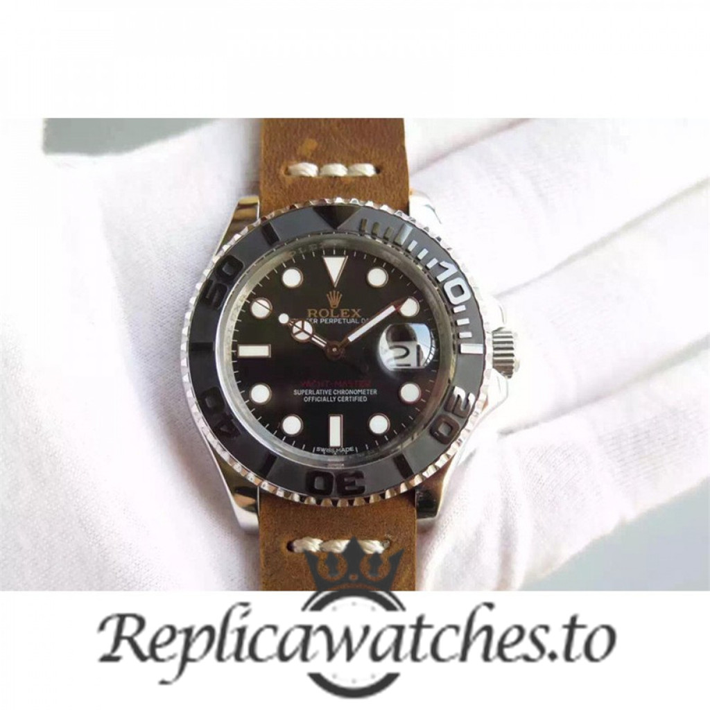 Swiss Rolex Yacht-Master Replica 116655 011 Brown Leather Automatic 40mm