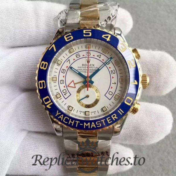Swiss Rolex Yacht-Master Replica 116681 001 Stainless Steel 410L and 18K Yellow Gold Automatic 44mm