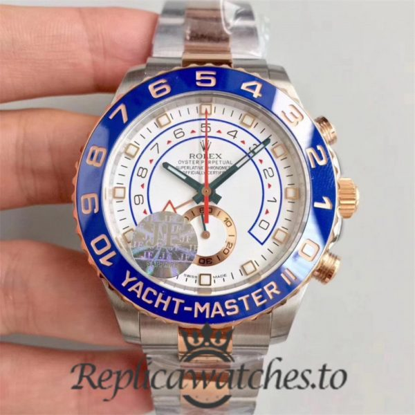 Swiss Rolex Yacht-Master Replica 116681 Stainless Steel 410L and 18K Rose Gold Automatic 44mm