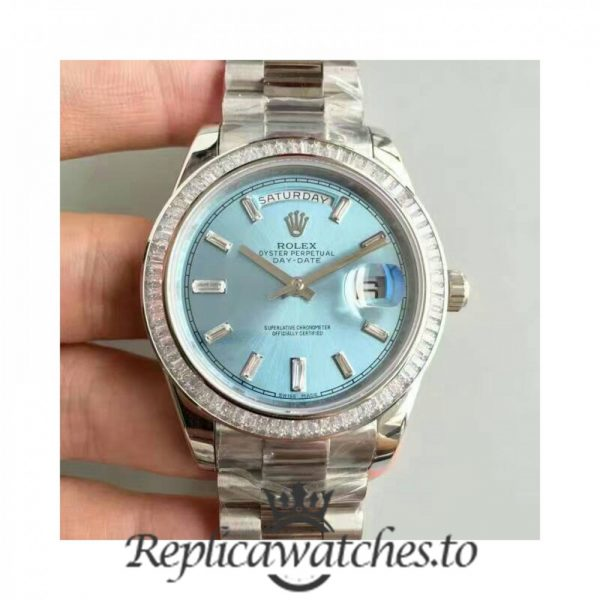 Swiss Rolex Day-Date Replica 228396TBR 003 Stainless Steel 410L Automatic 40MM