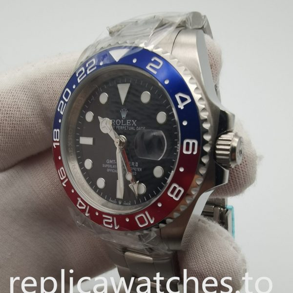 Rolex Gmt-master 126710blro 40mm Black Dial Inner Reflector Ring Watch