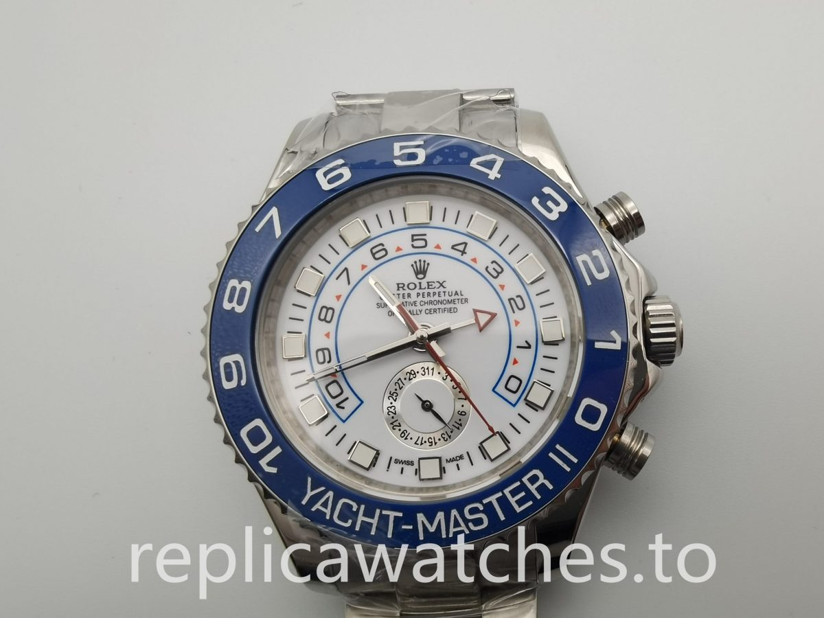 Rolex Yacht-master 116680 44mm Men White And 316 Grade Stainless Steel