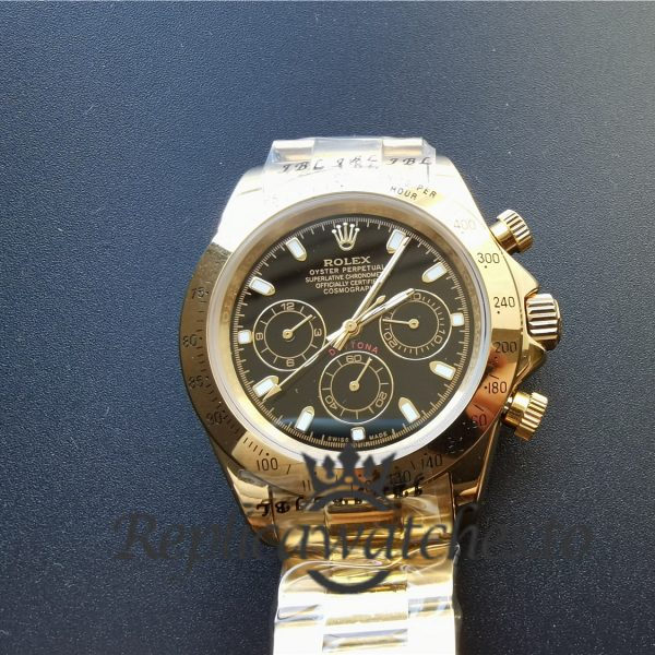 Rolex Daytona 116528 40mm 18k Yellow Gold And Black Dial For Men Watch