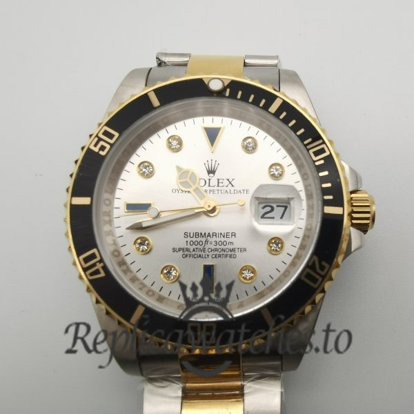 Rolex Submariner Date 116613 40mm Dial White Steel And Yellow Gold For Men Watch