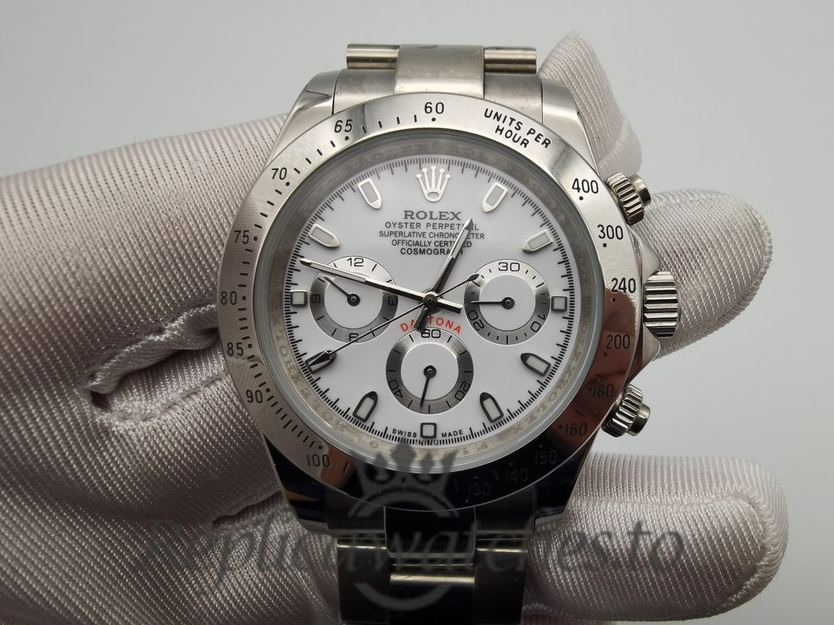Rolex Daytona 116520 For Men Stainless Steel Oyster And White Dial 40mm Watch