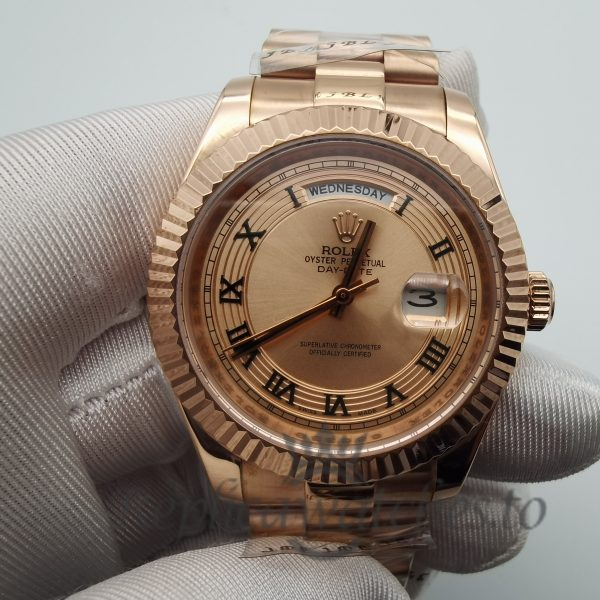 Rolex Day-Date 218235 Rose Gold Material 41mm For Men Watch