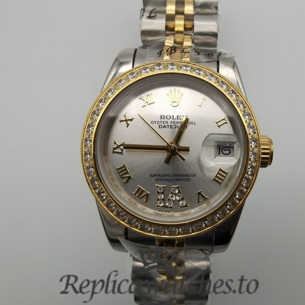 Rolex Datejust 178383 31mm Stainless Steel And White Gold For Women Watch